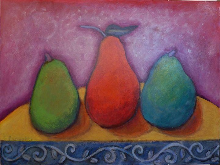 Mexican Pearscape - FREDA PONGETTI ORANGE COUNTY FINE ART