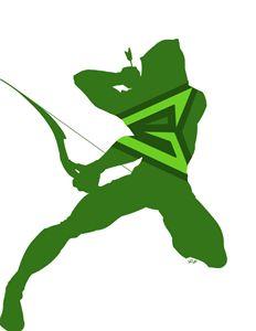 Green Arrow minimalist silhouette pr