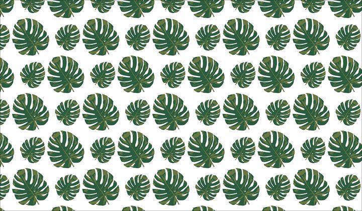 Monstera Leaf Pattern - Cleverwat