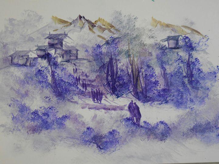 blue village - ATMA D' ART