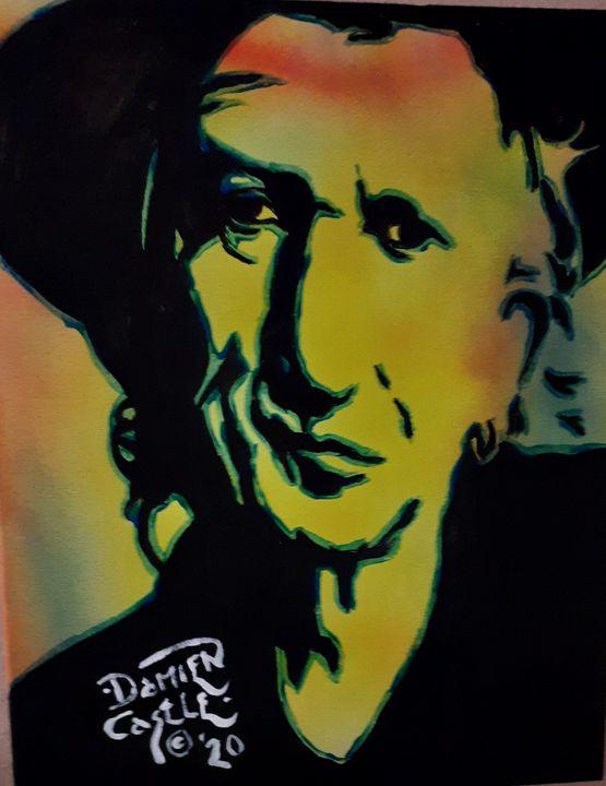 Keith Richards abstract - Mob Boss Art