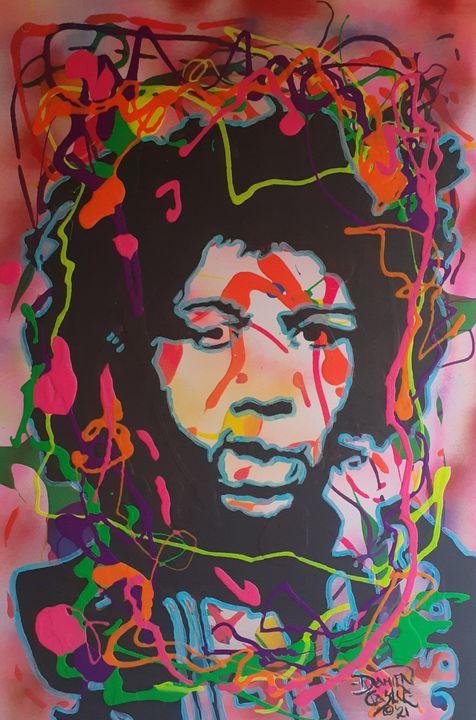 Jimi Hendrix:Rainbow Bridge - Mob Boss Art