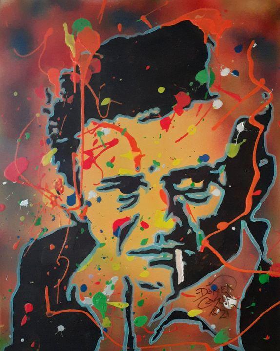 Johnny Cash:Get Rhythm Dripping - Mob Boss Art
