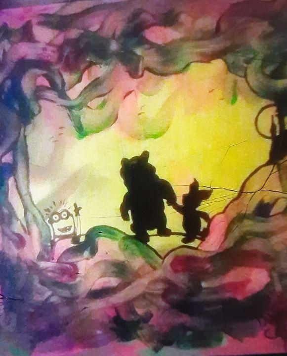 Winnie the Pooh & Piglet meet Minion - Mob Boss Art