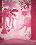"Over There Art ""Pink Botanics"""