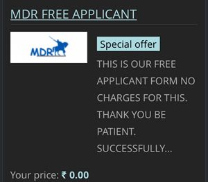 Mdr free applicant