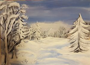 acrylic winter snow