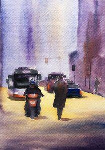 Street scene in China - Wei's studio