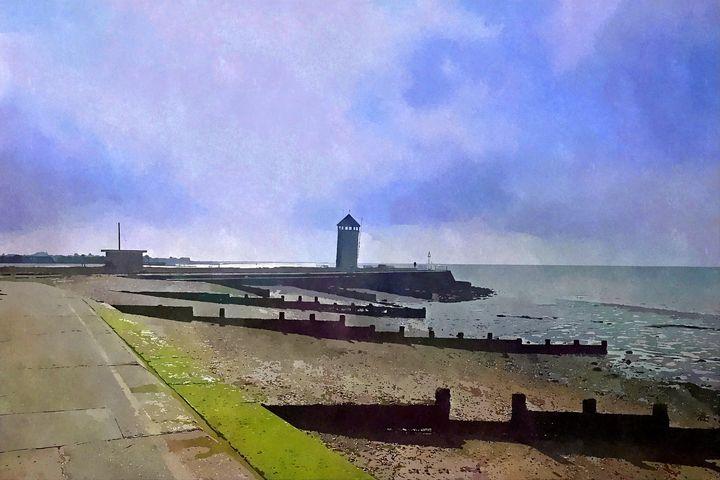 Beach Scene In Essex, UK. - Trevor Harvey Art