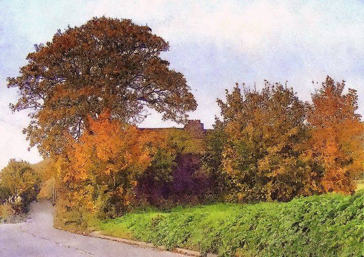 Autumn Cottage - Trevor Harvey Art