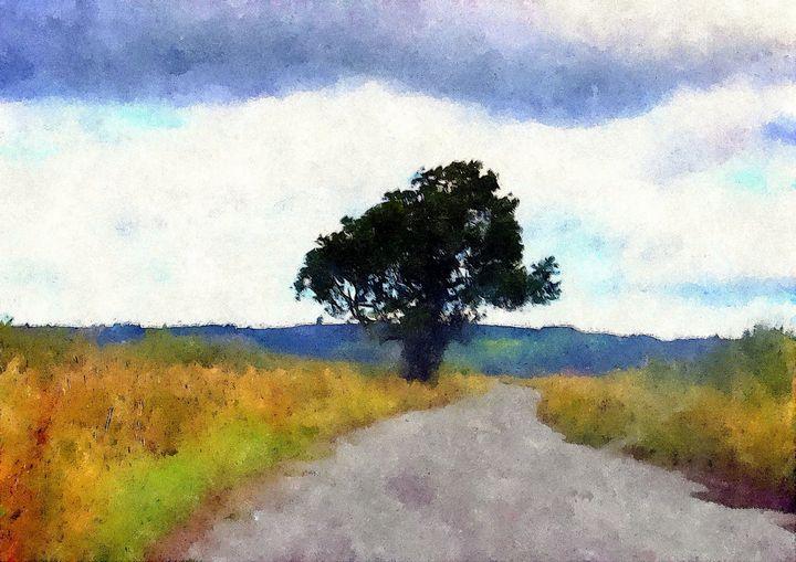Tree On A Yorkshire Moor - Trevor Harvey Art