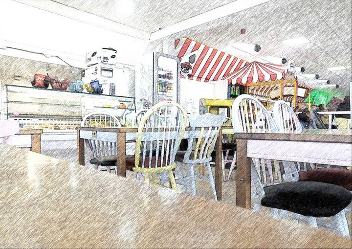 The Empty Cafe - Trevor Harvey Art