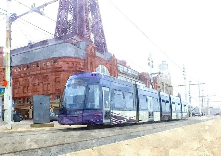 The Tram - Trevor Harvey Art
