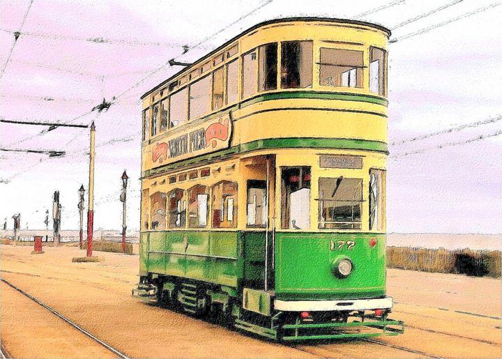 Tram - Trevor Harvey Art