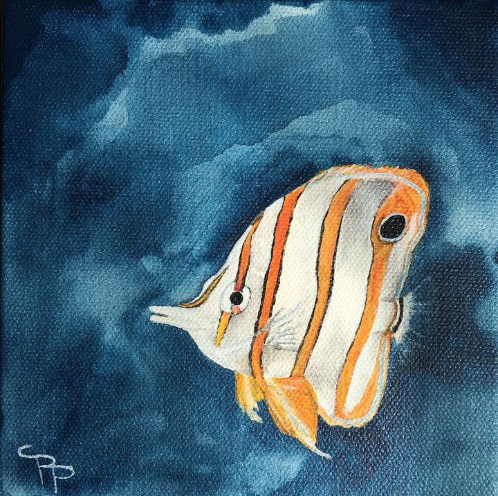 copperband butterflyfish - Swan-Purchio Art