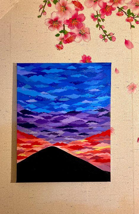 Mountain with Colorful Sky - Stephano Arts