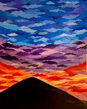 Mountain with Colorful Sky
