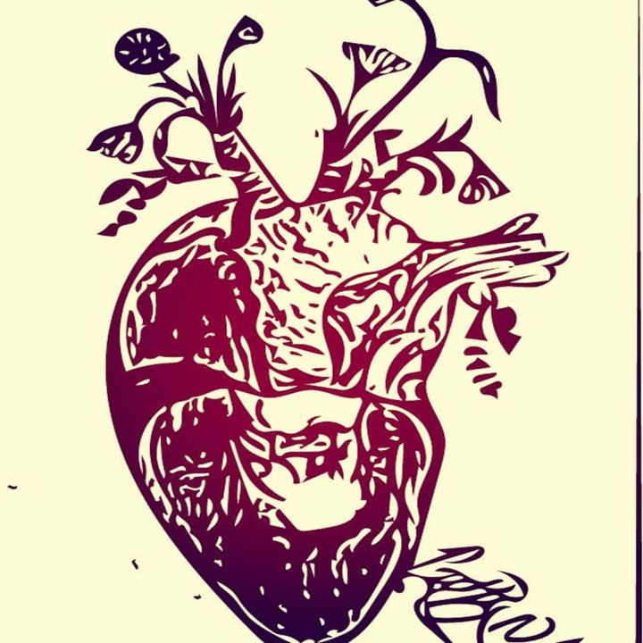 Flower Heart - Pretty N Black