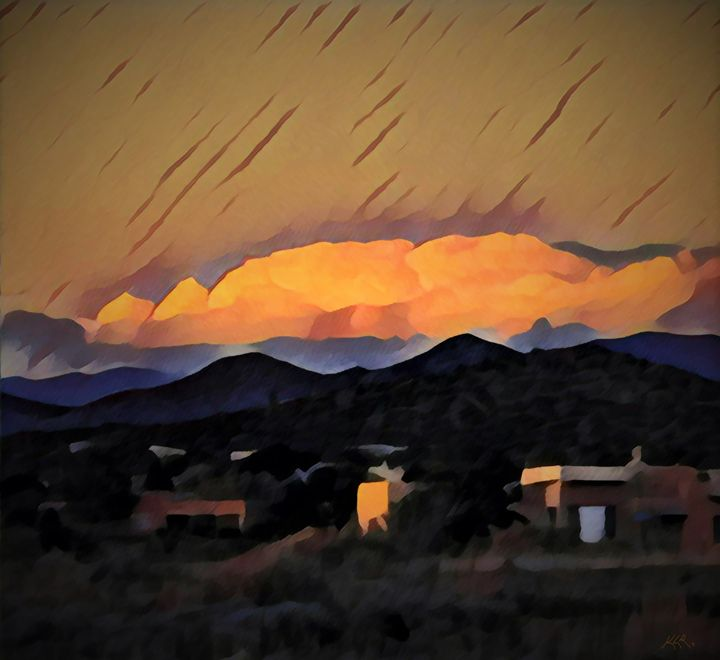 Sunset Reflection Over the Sangres - Kevin Rehorn / Second Nature Fine Art