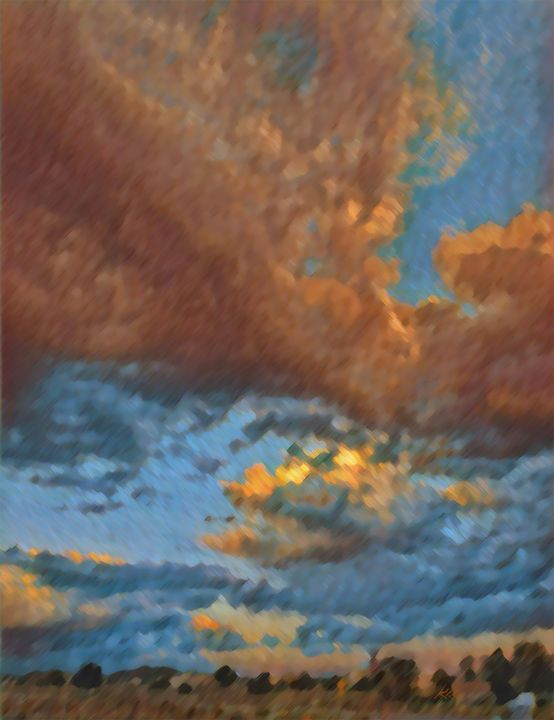New Mexico Skyscape - Kevin Rehorn / Second Nature Fine Art