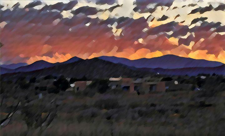 Santa Fe Sunrise - Kevin Rehorn / Second Nature Fine Art