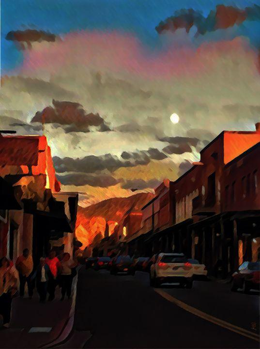 Moonrise Over Santa Fe - Kevin Rehorn / Second Nature Fine Art