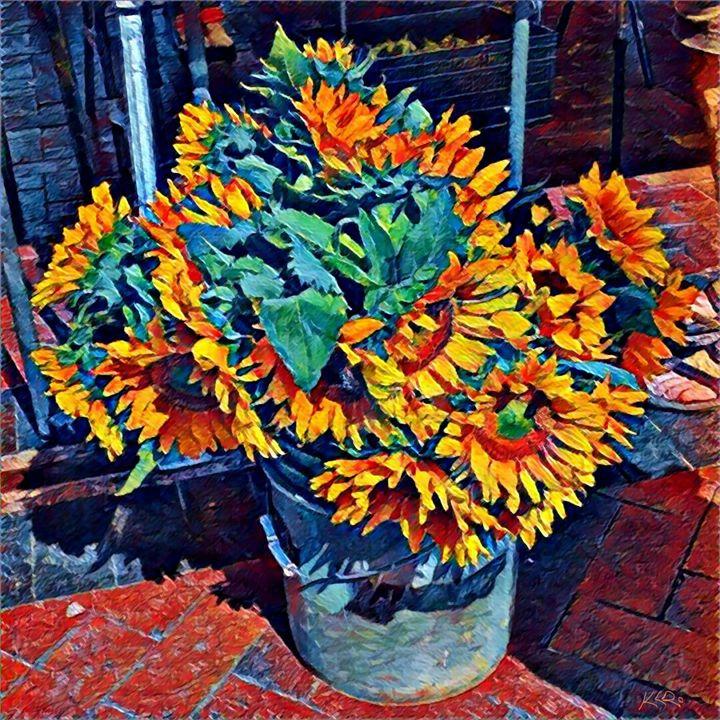 Santa Fe Farmers Market Sunflowers - Kevin Rehorn / Second Nature Fine Art