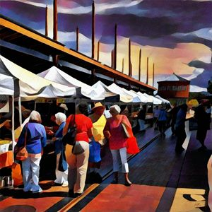 Santa Fe Farmers Market - Kevin Rehorn / Second Nature Fine Art