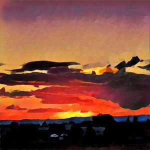 Santa Fe Sunset - Kevin Rehorn / Second Nature Fine Art