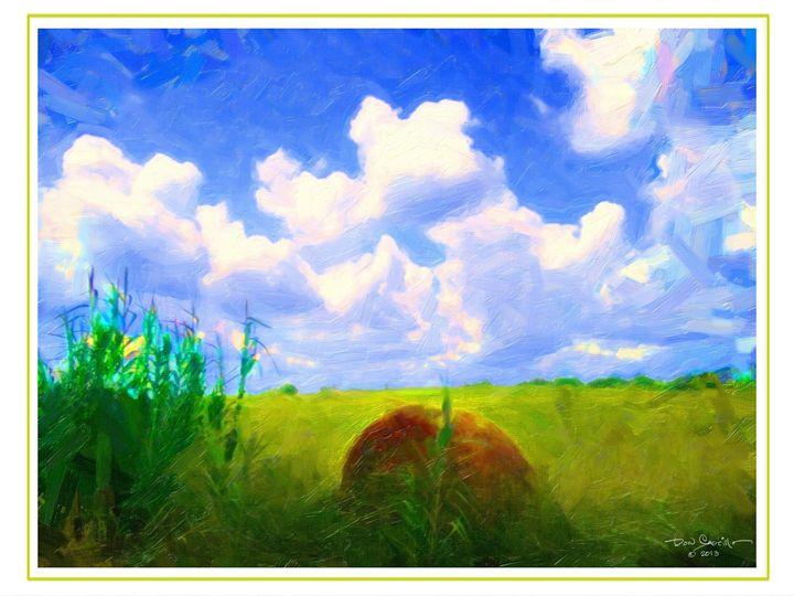 Sky Blue over a Hay Field - Don Castillo
