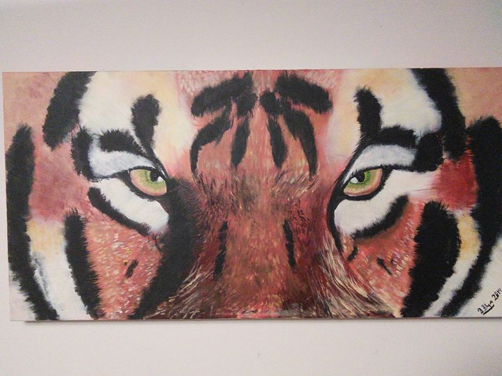 Eyes of a tiger - Dylan's Art Gallery