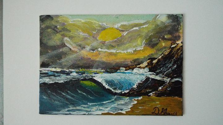 Crashing Wave - Dylan's Art Gallery