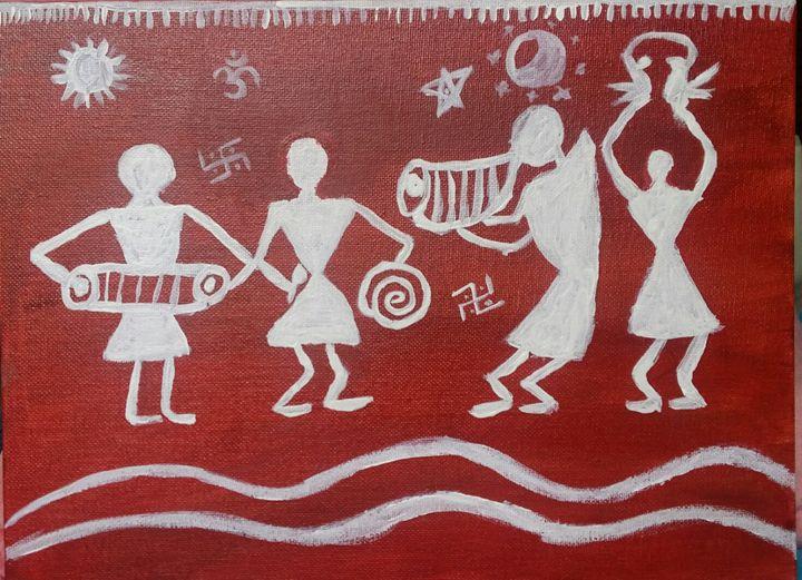 warli painting - anamika art gallery