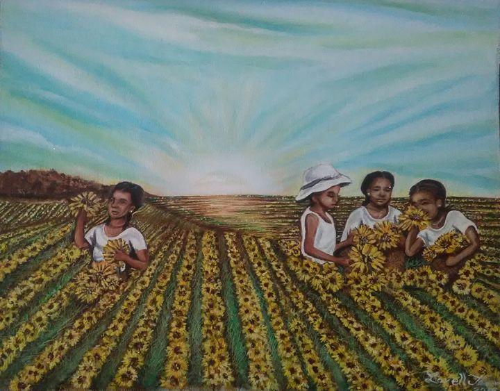Morning Sunflowers - Vellart