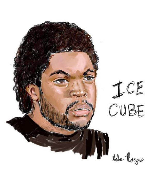 Portrait of Actor/Rapper Ice Cube - Mr.Rogers