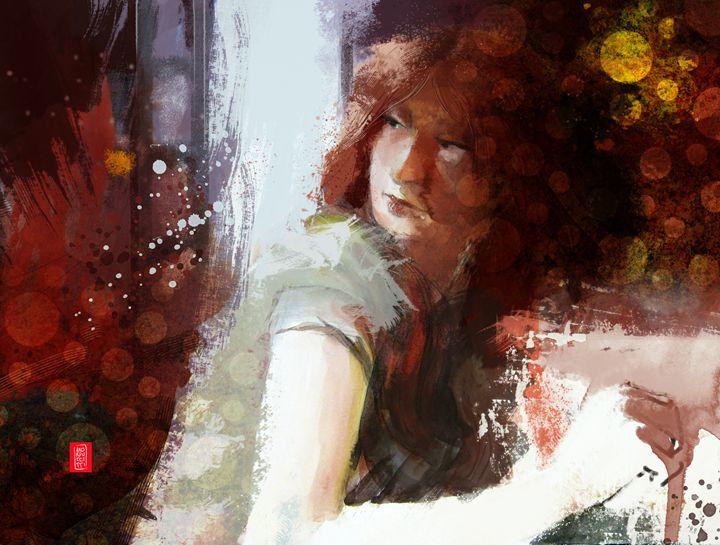 Figura seduta - Alessandro Andreuccetti Art