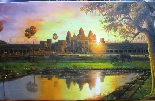 Angkorwat Sunrise 70x140cm - Come Up Designs