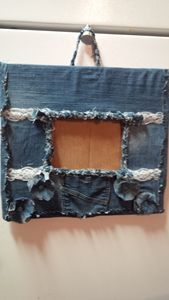 denim  picture frame - Upcycled Inspirations