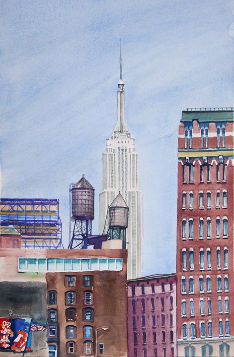 Empire State View Tribeca - Alex Price Collection