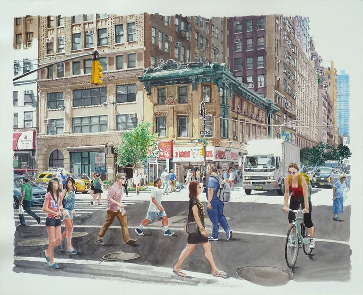 44th St. 8th Ave. Noon - Alex Price Collection