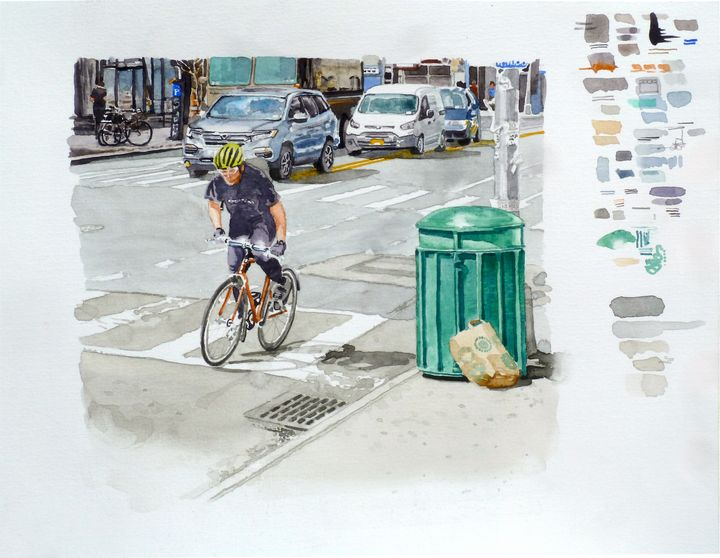 Solo Bike from Sketchbook - Alex Price Collection