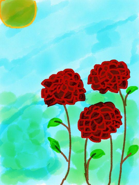Red dahlias - Gillz gallery