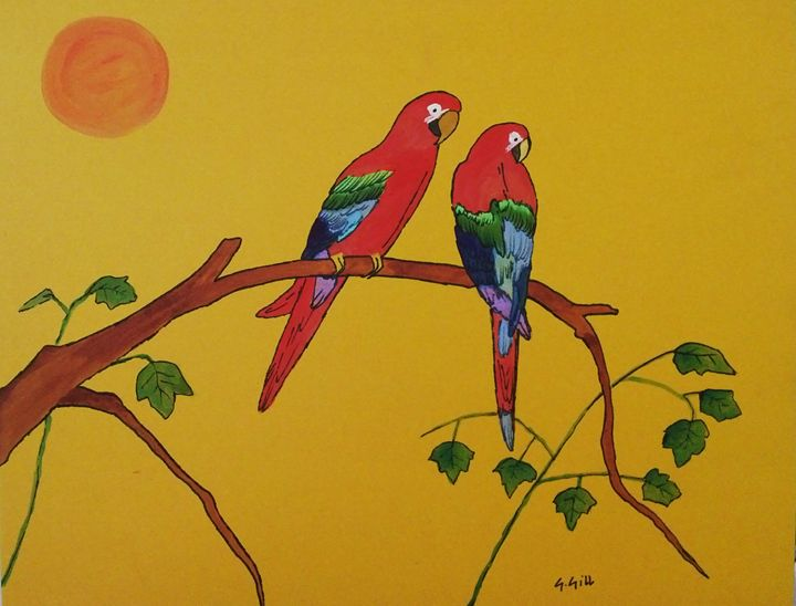 Two red macaws - Gillz gallery