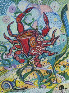 Cancer - the Crab - Ramani Astro Art (Diana Petrulyte Rodriguez Urbizt