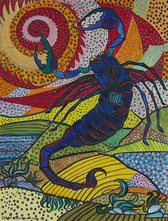 Scorpio - the Scorpion - Ramani Astro Art (Diana Petrulyte Rodriguez Urbizt