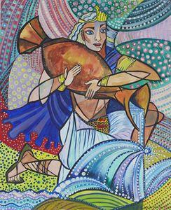 Aquarious - the Water Bearer - Ramani Astro Art (Diana Petrulyte Rodriguez Urbizt
