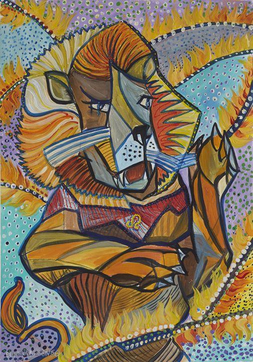 Leo - the Lion - Ramani Astro Art (Diana Petrulyte Rodriguez Urbizt