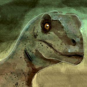 Raptor portrait watercolor