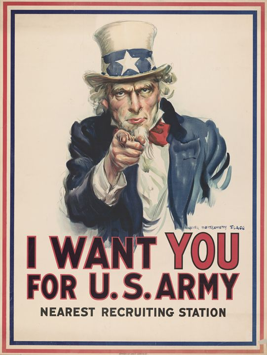 I Want You - Wartime Poster - Classics