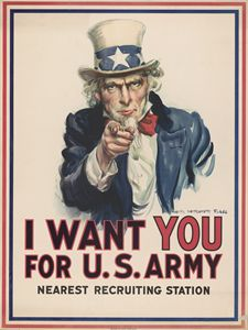I Want You - Wartime Poster